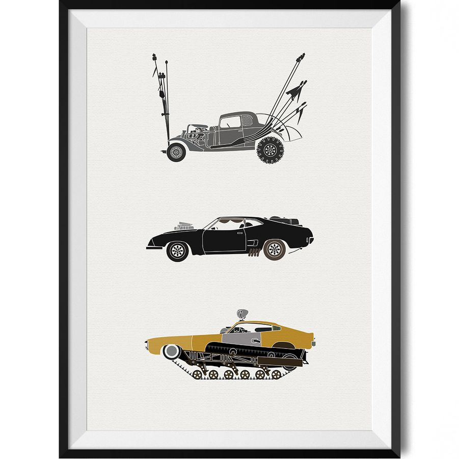 a deadly speed the iconic mad max car poster poster. Black Bedroom Furniture Sets. Home Design Ideas
